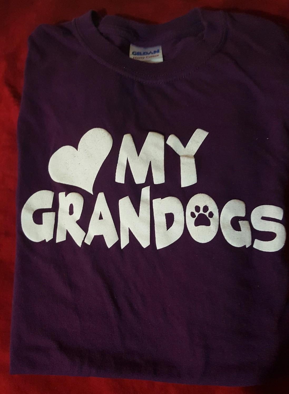 My Grandogs T-Shirt - SMALL - BLACK  (B.127)