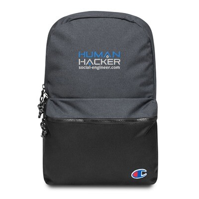 Human Hacker Embroidered Champion Backpack