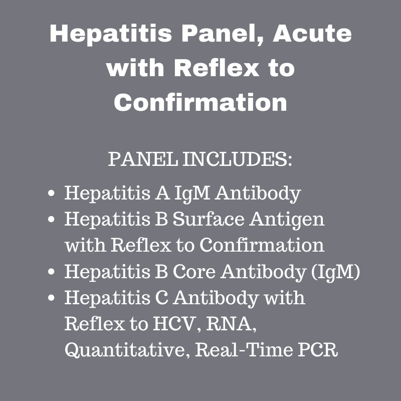 Hepatitis Panel, Acute with Reflex to Confirmation
