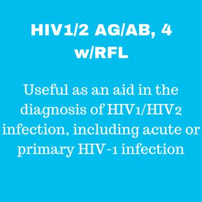 HIV-1/2 Antigen and Antibodies, 4Gen, W Reflexes