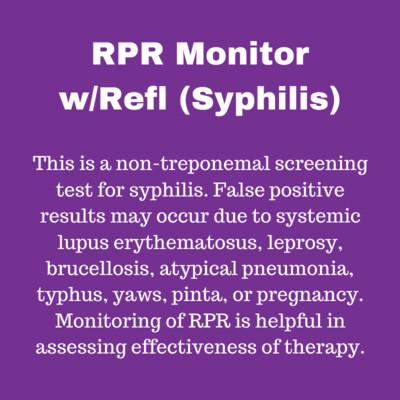 RPR MONITOR W/REFL (Syphilis)