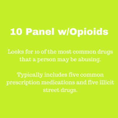 10 Panel with Opioids