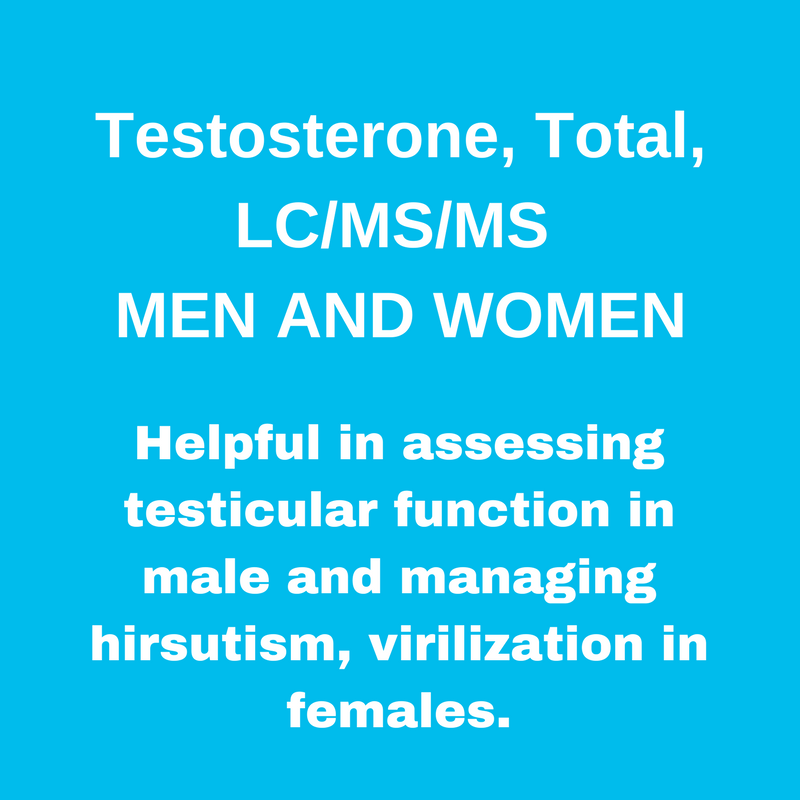 MEN'S AND WOMEN'S TESTOSTERONE LEVELS,T,LC/MS/MS
