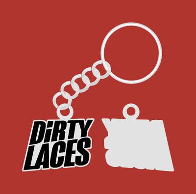 Keyring - Dirty Laces Logo