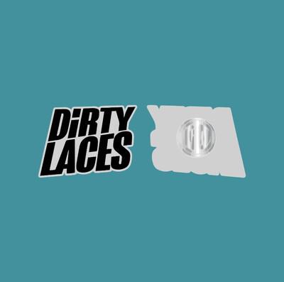 Enamel Badge - Dirty Laces Logo