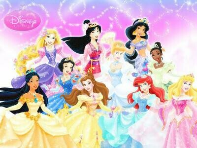 Ten Princess's- Full Drill Diamond Painting - Specially ordered for you. Delivery is approximately 4 - 6 weeks.