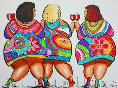 3 Colourful Ladies - Full Drill Diamond Painting - Specially ordered for you. Delivery is approximately 4 - 6 weeks.