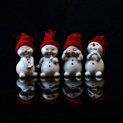 4 Cute Snow Kids - Full Drill Diamond Painting - Specially ordered for you. Delivery is approximately 4 - 6 weeks.