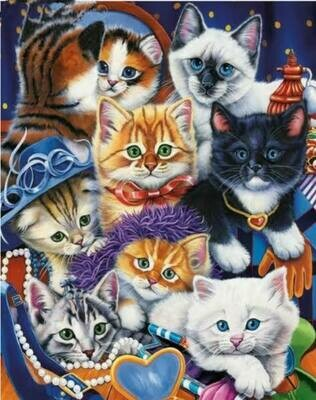 8 Cats - Full Drill Diamond Painting - Specially ordered for you. Delivery is approximately 4 - 6 weeks.