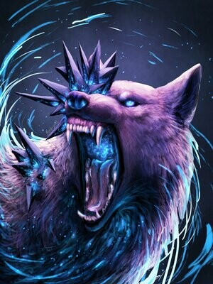 Angry Purple Wolf - Full Drill Diamond Painting - Specially ordered for you. Delivery is approximately 4 - 6 weeks.
