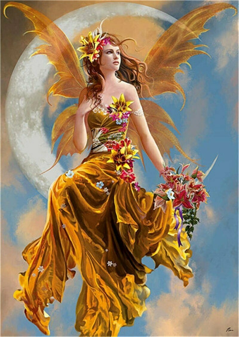 Autumn Fairy  - Full Drill Diamond Painting - Specially ordered for you. Delivery is approximately 4 - 6 weeks.