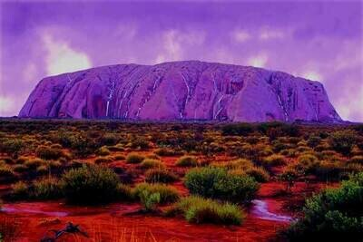Ayers Rock Purple - Full Drill Diamond Painting - Specially ordered for you. Delivery is approximately 4 - 6 weeks.