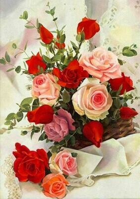 Assorted Roses - Full Drill Diamond Painting - Specially ordered for you. Delivery is approximately 4 - 6 weeks.