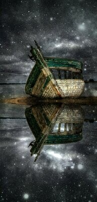 Boat On Water At Night  - Full Drill Diamond Painting - Specially ordered for you. Delivery is approximately 4 - 6 weeks.
