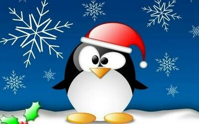 Christmas Penguin 02  - Full Drill Diamond Painting - Specially ordered for you. Delivery is approximately 4 - 6 weeks.