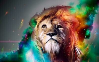 Colourful Lion   - Full Drill Diamond Painting - Specially ordered for you. Delivery is approximately 4 - 6 weeks.