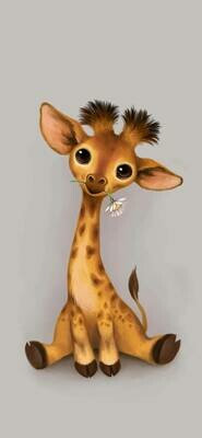Baby Giraffe - Full Drill Diamond Painting - Specially ordered for you. Delivery is approximately 4 - 6 weeks.