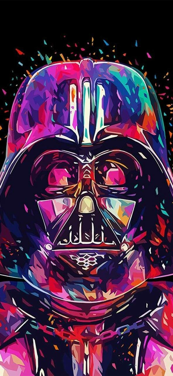 Colourful Vader - Full Drill Diamond Painting - Specially ordered for you. Delivery is approximately 4 - 6 weeks.
