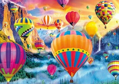 Balloons Over Mountains - Full Drill Diamond Painting - Specially ordered for you. Delivery is approximately 4 - 6 weeks.