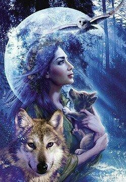 Beauty Owl and Wolf - Full Drill Diamond Painting - Specially ordered for you. Delivery is approximately 4 - 6 weeks.