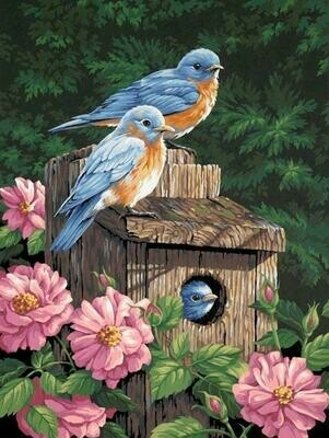 Bird House 02 - Full Drill Diamond Painting - Specially ordered for you. Delivery is approximately 4 - 6 weeks.