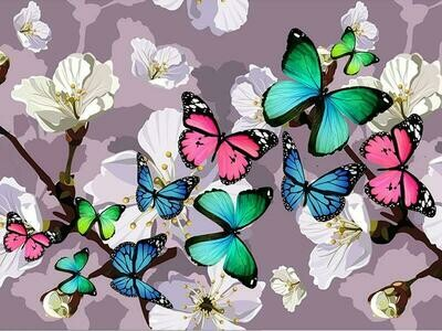 Butterfly Burst - Full Drill Diamond Painting - Specially ordered for you. Delivery is approximately 4 - 6 weeks.