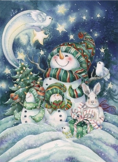Christmas Snowmen - Full Drill Diamond Painting - Specially ordered for you. Delivery is approximately 4 - 6 weeks.