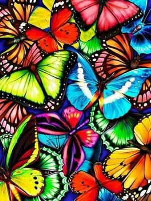 Coloured Butterflies - Full Drill Diamond Painting - Specially ordered for you. Delivery is approximately 4 - 6 weeks.