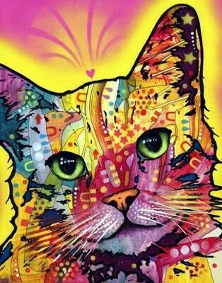Colourful Cat 01   - Full Drill Diamond Painting - Specially ordered for you. Delivery is approximately 4 - 6 weeks.