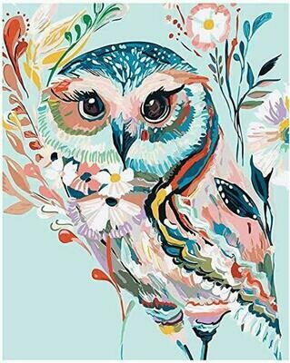Colourful Owl - Full Drill Diamond Painting - Specially ordered for you. Delivery is approximately 4 - 6 weeks.