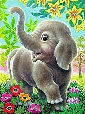 Cute Elephant - Full Drill Diamond Painting - Specially ordered for you. Delivery is approximately 4 - 6 weeks.