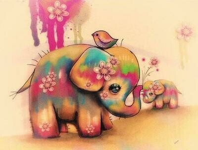 Cute Baby Elephant - Full Drill Diamond Painting - Specially ordered for you. Delivery is approximately 4 - 6 weeks.