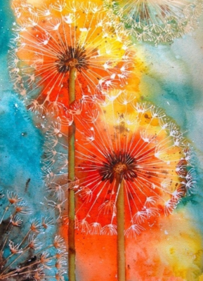 Dandelions In Orange - Full Drill Diamond Painting - Specially ordered for you. Delivery is approximately 4 - 6 weeks.