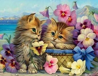 Cute Kittens  - Full Drill Diamond Painting - Specially ordered for you. Delivery is approximately 4 - 6 weeks.