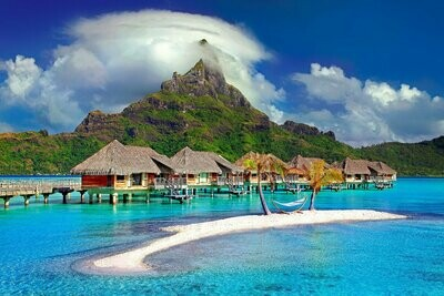 Bora Bora  - Full Drill Diamond Painting - Specially ordered for you. Delivery is approximately 4 - 6 weeks.