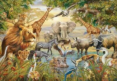 Animal Waterhole 3 - Full Drill Diamond Painting - Specially ordered for you. Delivery is approximately 4 - 6 weeks.