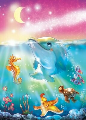 Dolphin 03 - Full Drill Diamond Painting - Specially ordered for you. Delivery is approximately 4 - 6 weeks.