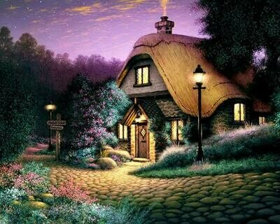 Cottage 02 - Full Drill Diamond Painting - Specially ordered for you. Delivery is approximately 4 - 6 weeks.