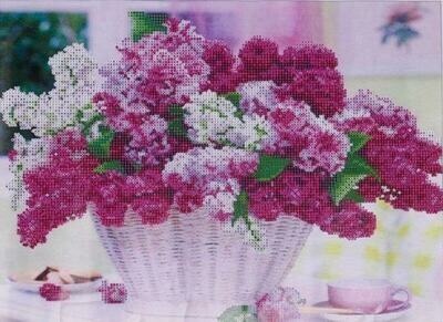 Basket Of Lavender - Full Drill Diamond Painting - Specially ordered for you. Delivery is approximately 4 - 6 weeks.