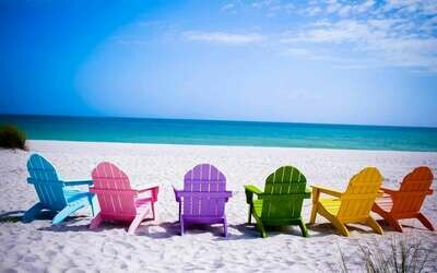 Beach Chairs 02 - Full Drill Diamond Painting - Specially ordered for you. Delivery is approximately 4 - 6 weeks.