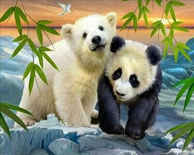 Bear Cubs- Full Drill Diamond Painting - Specially ordered for you. Delivery is approximately 4 - 6 weeks.