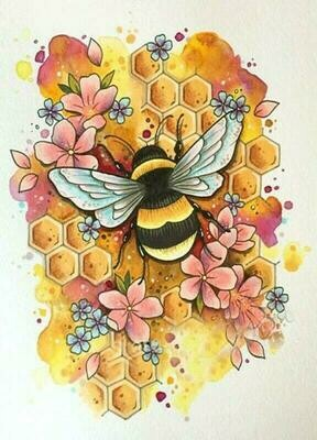 Bee - Full Drill Diamond Painting - Specially ordered for you. Delivery is approximately 4 - 6 weeks.