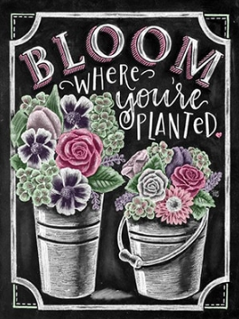 Bloom Where You Are Planted  - Full Drill Diamond Painting - Specially ordered for you. Delivery is approximately 4 - 6 weeks.