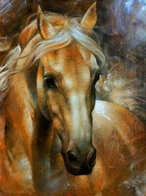 Brown Mare - Full Drill Diamond Painting - Specially ordered for you. Delivery is approximately 4 - 6 weeks.