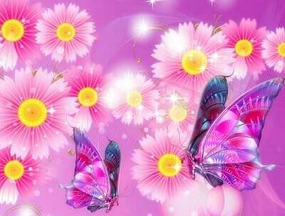 Butterflies 04 - Full Drill Diamond Painting - Specially ordered for you. Delivery is approximately 4 - 6 weeks.