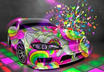 Colourful Car - Full Drill Diamond Painting - Specially ordered for you. Delivery is approximately 4 - 6 weeks.