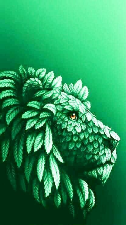 Green Leaf Lion - Full Drill Diamond Painting - Specially ordered for you. Delivery is approximately 4 - 6 weeks.