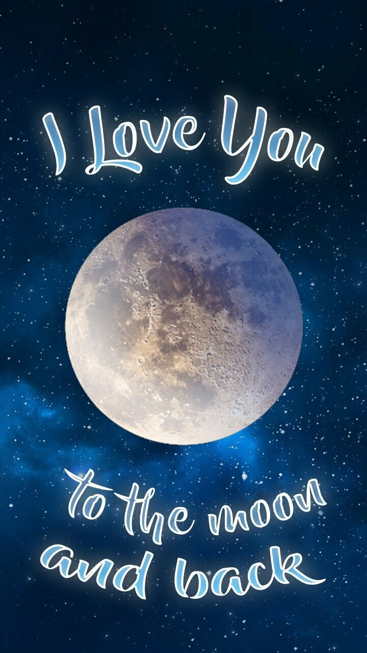 Love You To The Moon 02 - Full Drill Diamond Painting - Specially ordered for you. Delivery is approximately 4 - 6 weeks.