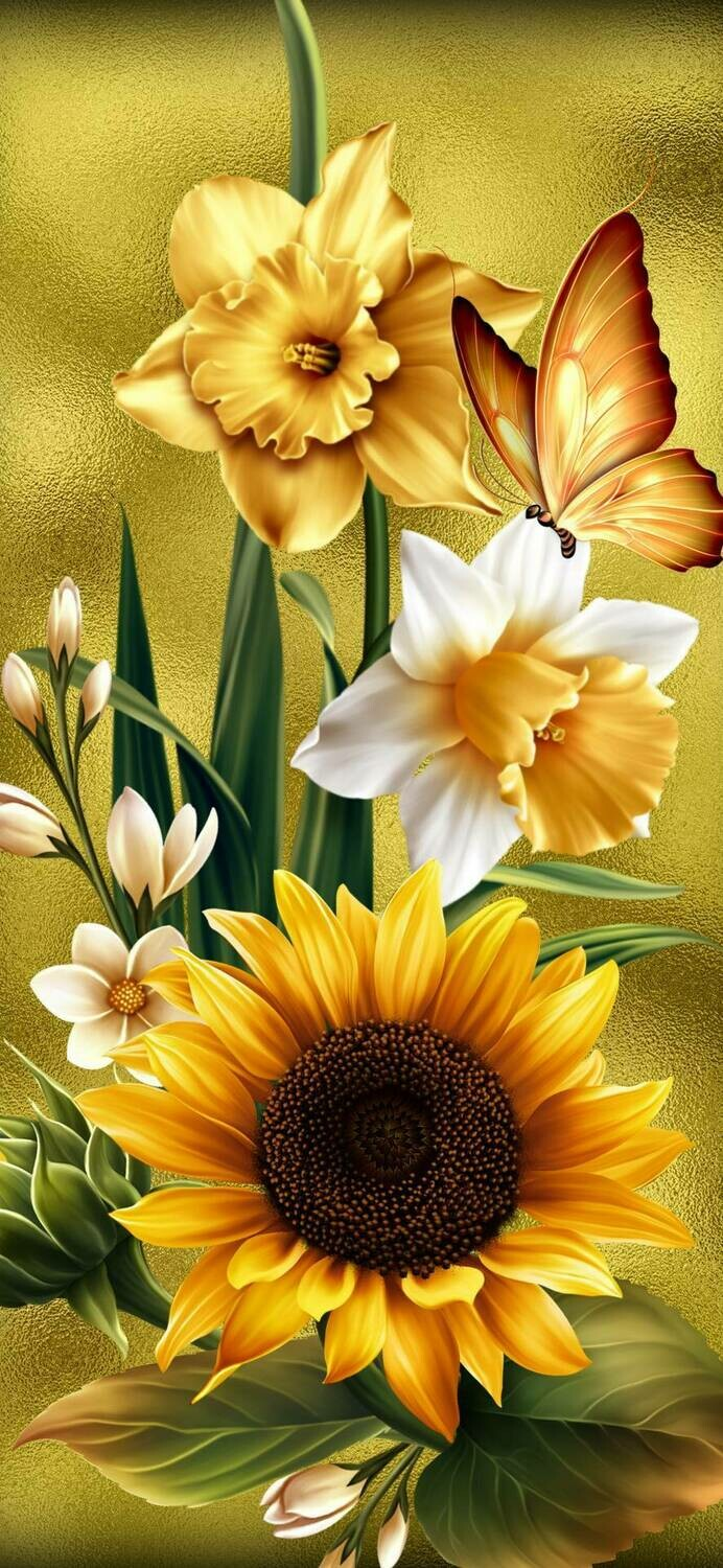 Flowers 01 - Full Drill Diamond Painting - Specially ordered for you. Delivery is approximately 4 - 6 weeks.
