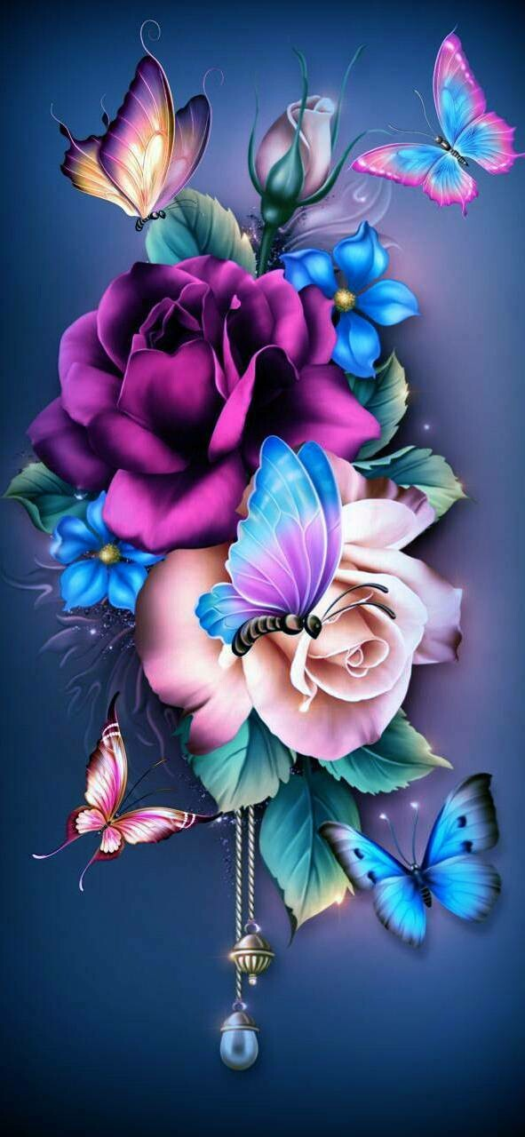Flowers 04 - Full Drill Diamond Painting - Specially ordered for you. Delivery is approximately 4 - 6 weeks.